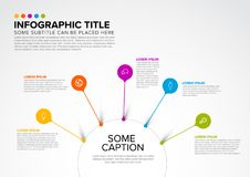Infographic för vektor mall som kan användas till mycket Arkivfoto