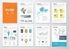 Infographic företags beståndsdelar och vektordesignillustrationer Royaltyfri Bild