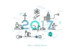 Infographic-Fahne, 2017-jährig von den Gelegenheiten Tendenzen und Vorhersagen in der Wasserversorgung, Generation des elektrisch lizenzfreie abbildung