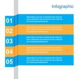 Infographic Fahnen-Auslegungselemente Stockfotos