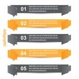 Infographic Fahnen-Auslegungselemente Lizenzfreie Stockbilder