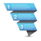Infographic-Fahnen-Gestaltungselemente Stockfoto