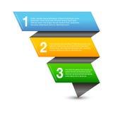Infographic-Fahnen-Gestaltungselemente Lizenzfreie Stockfotografie
