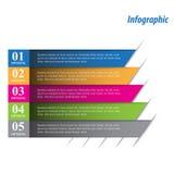 Infographic-Fahnen-Gestaltungselemente Lizenzfreie Stockbilder