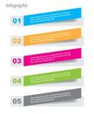 Infographic-Fahnen-Gestaltungselemente Lizenzfreies Stockbild