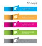 Infographic-Fahnen-Gestaltungselemente Stockbilder