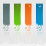 Infographic with falling snowflakes Royalty Free Stock Image