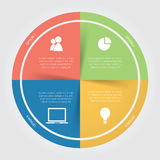 Infographic-Farbkreisdiagramm Lizenzfreie Stockbilder