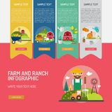 Farm and Ranch Infographic Complex. Infographic Farm and Ranch | Use for farm, ranch, agriculture, harvest, industry and much more. The set can be used for Royalty Free Stock Photography