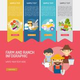 Farm and Ranch Infographic Complex. Infographic Farm and Ranch | Use for farm, ranch, agriculture, harvest, industry and much more. The set can be used for Stock Photography