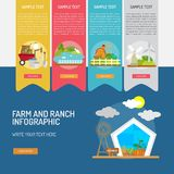 Farm and Ranch Infographic Complex. Infographic Farm and Ranch | Use for farm, ranch, agriculture, harvest, industry and much more. The set can be used for Royalty Free Stock Photos
