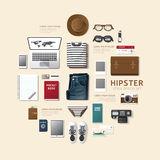 Infographic fashion design flat lay idea. Vector illustration Stock Photography