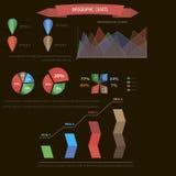 Infographic faz um mapa de elementos no vetor Imagem de Stock