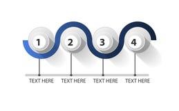 Infographic fechou o círculo em 4 etapas ilustração stock