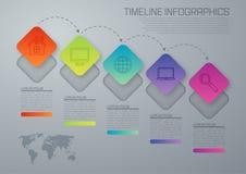 Infographic fem alternativ för vektorillustration Arkivfoto