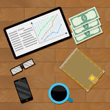 Infographic financial document. Vector report marketing budget illustration Royalty Free Stock Image