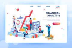 Infographic of Financial Risk Graph. Balance financial value, management and administration concept. Characters, people engineering a plan. Statistic vector illustration