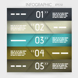 Infographic five oblique options in middle Stock Photo