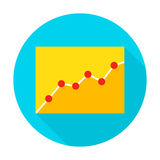 Infographic Flat Circle Icon. Infographic Icon. Vector Illustration Flat Style Circle Item with Long Shadow. Data Analysis Royalty Free Stock Image