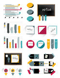 Infographic flat collection of simply elements for print or web page. Stock Photo