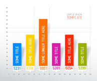Infographic flat design column graph chart template Royalty Free Stock Photo