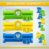 Infographic football banners in brazil colors. Royalty Free Stock Image