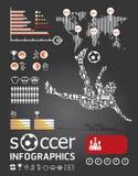 Infographic fotboll   Arkivfoto