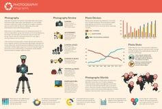 Infographic fotografievector Stock Foto's