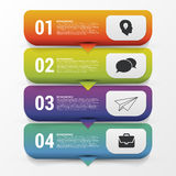 Infographic four options. Modern design template. Vector. Illustration Stock Images
