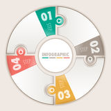 Infographic four steps. Circular puzzle Royalty Free Stock Photos