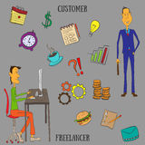 Infographic Freelancer Arkivfoto