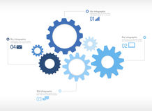 Infographic Gear Engine Design Technology Concept Royalty Free Stock Photography
