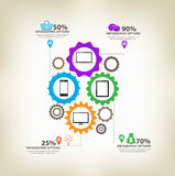 Infographic gears Digital Technology Royalty Free Stock Image