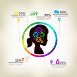 Infographic gears Digital Technology Stock Images