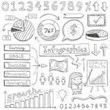 Infographic-Gekritzel Lizenzfreie Stockfotografie