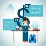 Infographic geld vector illustratie