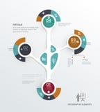 Infographic geleidelijk malplaatje kan voor werkschemalay-out worden gebruikt, Stock Foto's
