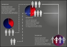 Infographic. With gender issue and graphs Royalty Free Stock Images