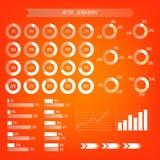Infographic genomskinlig vektor Apelsin-, vit- och bruntlutning Arkivfoton