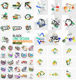 Infographic geometric layouts Royalty Free Stock Image