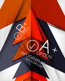 Infographic geometrical shape abstract background Stock Photo