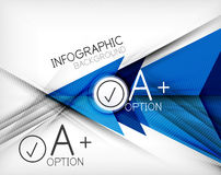 Infographic geometrical shape abstract background Stock Photos