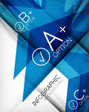 Infographic geometrical shape abstract background Stock Photography