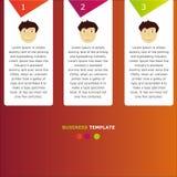 Infographic-Geschäfts-Informationsschablone Stockfotografie