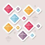 Infographic-Geschäfts-Konzept - Vektor-Entwurf mit Ikonen Abstrakte Abbildung Stockbild