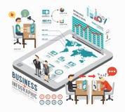 Infographic-Geschäfts-Schablonendesign isometrischer Konzeptvektor Lizenzfreie Stockfotos