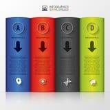 Infographic Geschäftsbücher Moderne vektorauslegungschablone Auch im corel abgehobenen Betrag Lizenzfreie Stockfotos