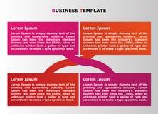 Infographic-Geschäftsdarstellung für Netz- und Grafikprojekte Lizenzfreie Stockfotografie