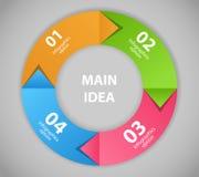 Infographic-Geschäftsschablonen-Vektorillustration Lizenzfreies Stockfoto
