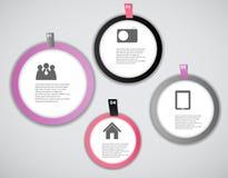 Infographic-Geschäftsschablonen-Vektorillustration Lizenzfreie Stockfotos